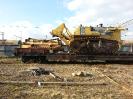 Погрузка и крепление бульдозера KOMATSU D375A-5 на ж/д платформе